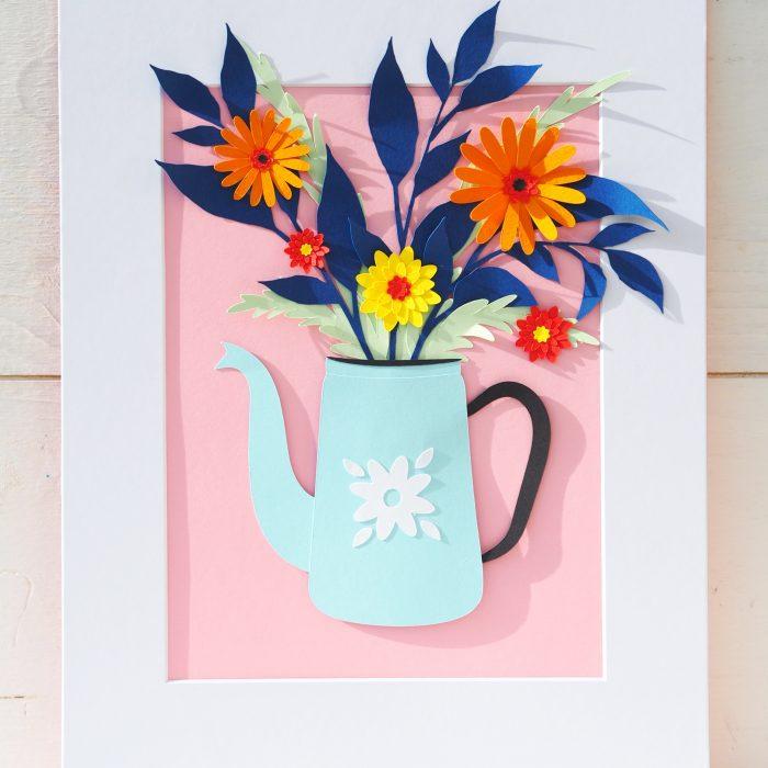 Coffeepot bouquet