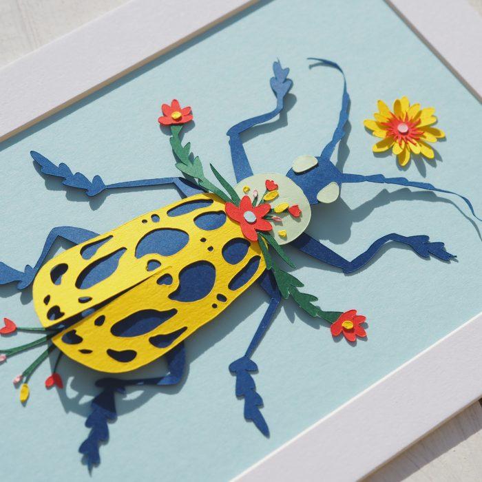 scarabée bleu