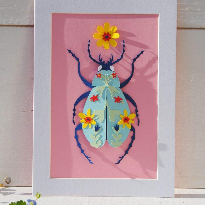 scarabée rose